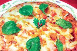小エビとサーモンのカナディアンピザ