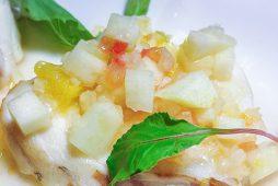 近海産 真鱈のポワレ ラフランスソース