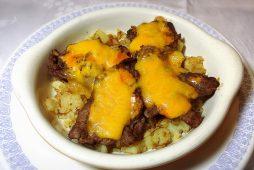 カナダビーフの<br /> ピリ辛チーズ焼き