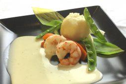 春野菜と海老のホットサラダ