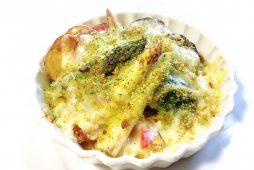 アスパラと野菜のグリルチーズパン粉焼き