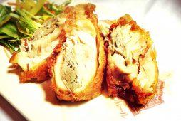 鶏モモ肉と根菜のビール衣揚げ