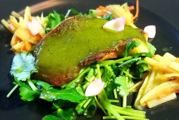 メバルとウドの木の芽味噌焼き