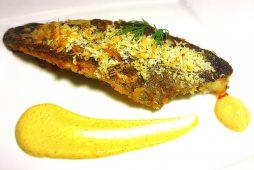 北海アイナメのパン粉焼き マスタードソース