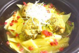地蕗と肉ダンゴのスープ煮