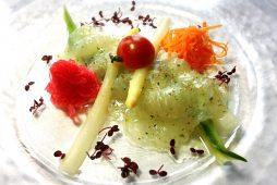 平目と野菜のマリネ