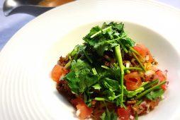 パクチー&トマトの冷やし担々麺
