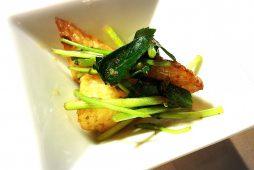 揚げ長芋と三ツ葉の山椒風味