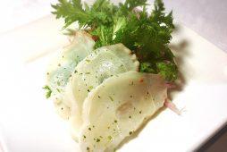 北海蛸のカルパッチョ
