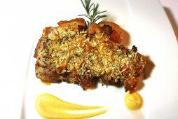 八雲豚ロースのパン粉焼き マスタードソース