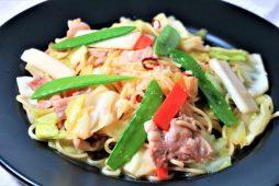 八雲豚と春野菜の塩麹パスタ