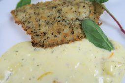 白身魚の香草パン粉焼き 柑橘タルタル