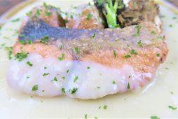 秋鮭のポワレ ポテトクリームソース