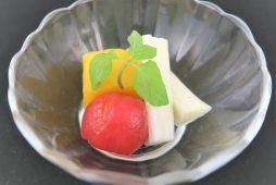 長芋のピクルスとミニトマトのコンポート