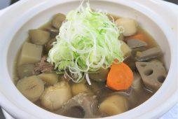 道産牛筋と根野菜の醤油鍋