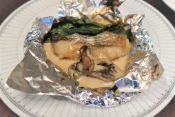 真鱈のホイル焼き オニオンクリームソース